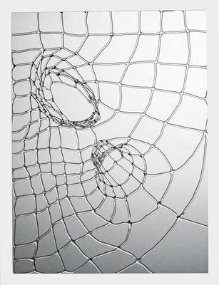 """""""Lichtzeichnung 5"""", 2015, 30x40cm"""