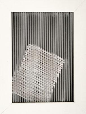 o.T., Glas, Holzrahmen, 13x18cm