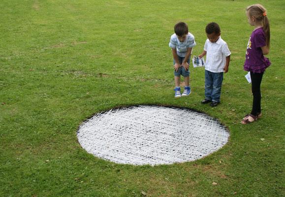 """""""Lichtpunkt"""", 2013, 140x140x20cm"""