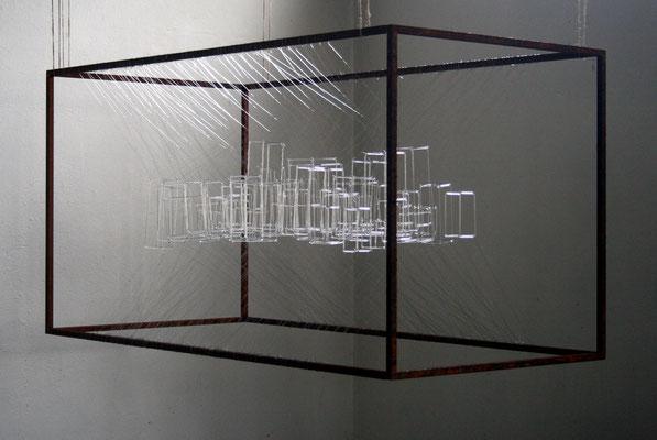 """""""Utopia"""", 2014, Glas Nylon, Stahl"""