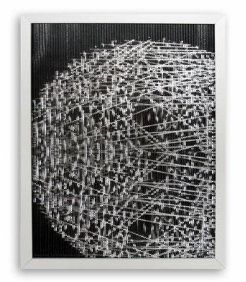 """""""Lichtstacatto"""", 2015, Fotografie, Glaskapillare, Holzrahmen, 30x45cm"""
