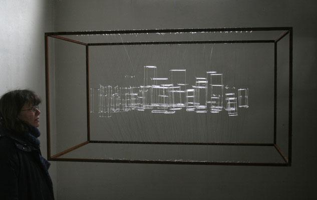 """""""Utopia"""",  2014, Glas,Nylon, Stahl"""