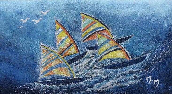 Du vent dans les voiles - Sables naturels et colorés