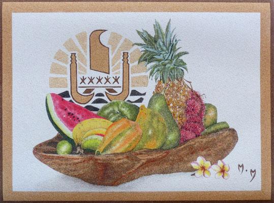 Fruits des îles - 55 x 41 - À VENDRE