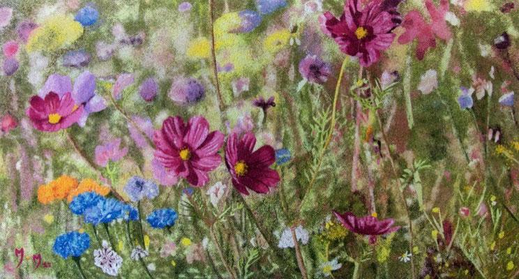 Fleurs champêtres - 55 x 30 - VENDU