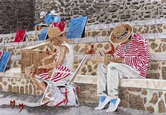 Artistes à Collioure - 40 x 27,5 - VENDU