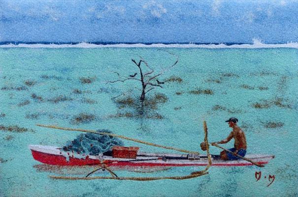 Pêcheur à Haapiti - 30 x 20 - VENDU