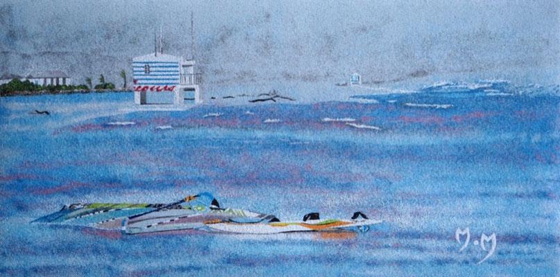 Coup de mer à Gruissan - Sables naturels colorés
