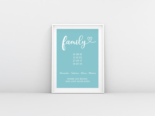 Familienposter 2 (Beispiel andere Farbe)