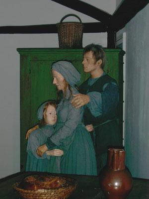 Bauernfamilie, Evangelisches Museum Oberösterreich, Rutzenmoos Mitarbeit an Figuren für Werkstatt Staffa/Lindinger München
