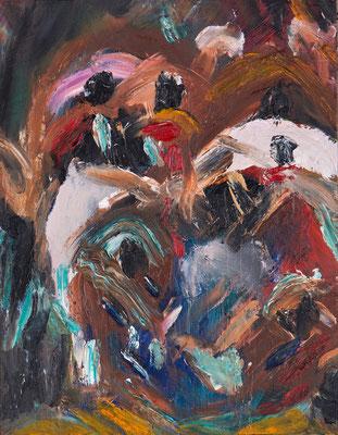 「ブラックオパール」41x32cm 油彩 板 2016