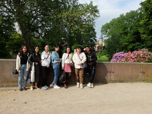 Unsere Gäste besichtigen die Stadt Bad Homburg.