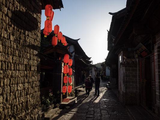 Traditionelles Viertel in der Altstadt von LIJIANG 丽江.