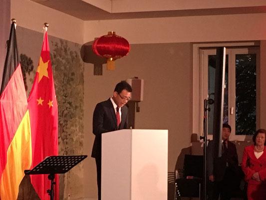 "WANG Shunqing bei seiner Rede in die ""Villa Kennedy""."
