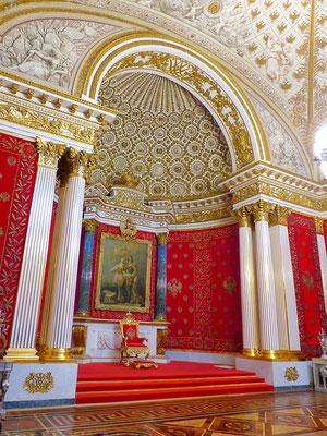 Thronsaal Eremitage Winterpalast St. Petersburg Russland