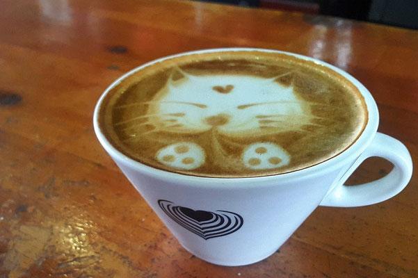 Kaffeekunst Café Loco Panajachel Atitlán-See