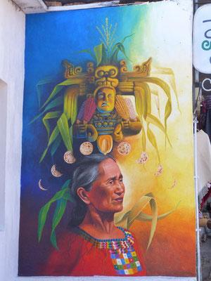 Maya-Gott Street-Art San Juan Atitlán-See