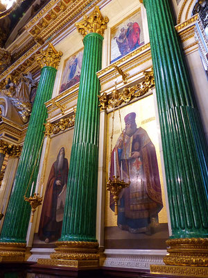 Innen Isaakskathedrale St. Petersburg Russland