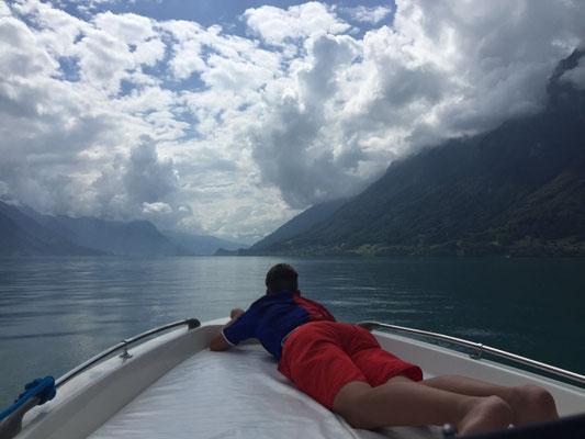 Motorbootfahren macht Spass