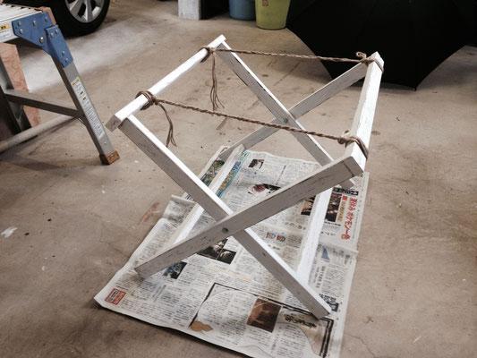脚を作る時に「三平方の定理」が役に立った。