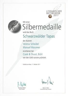 Urkunde GAD Schwarzwälder Tapas