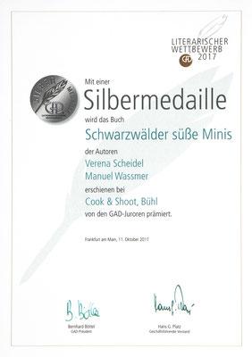 Urkunde GAD Schwarzwälder süße Minis