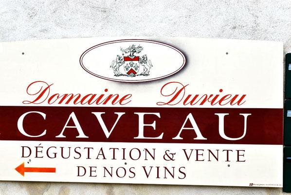 Reclamebord van Domaine Durieu