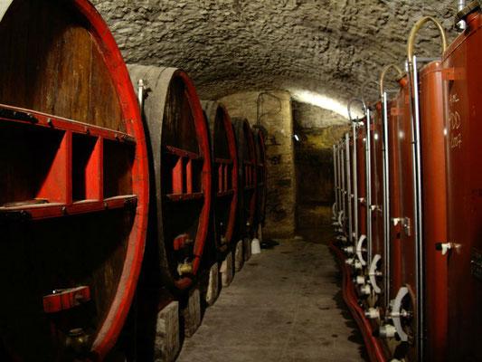 Een wijnkelder in Châtauneuf du Pape