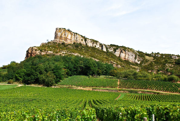 De Berg van La Solutré in de Bourgogne