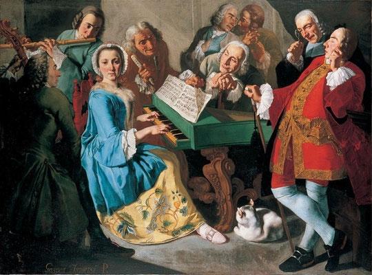 Il Concerto – Gaspare Traversi , 1755, © Villa Pignatelli e Museo del Principe Diego Aragona Pignatelli Cortés
