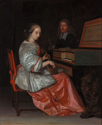 Lute Player Seated at a Virginal, Eglon van der Neer  (1634–1703), © Museum Boijmans Van Beuningen, Rotterdam