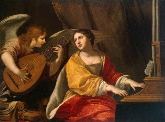 Blanchard, Jacques Saint Cecilia-17th.c  © The State Hermitage Museum - St Petersburg  Russian Federation - St. Petersburg