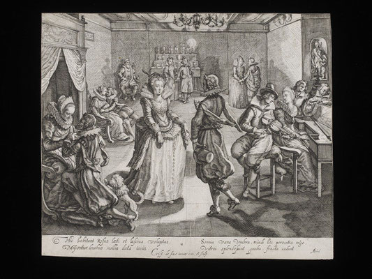 Feast in the house of the Rich Man, Engraving, Passe, Crispijn de (the younger), born 1593 - died 1670 © V&A Images