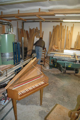 …workshop impressions…Restored Spinet …© photo A.Heinrichs-Heger