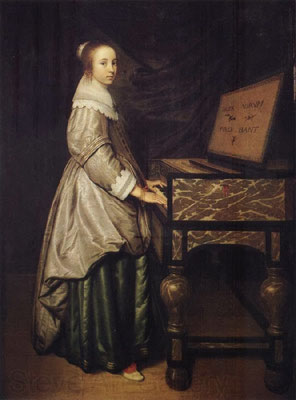Hendrick Martensz Sorgh, Girl at a virginal