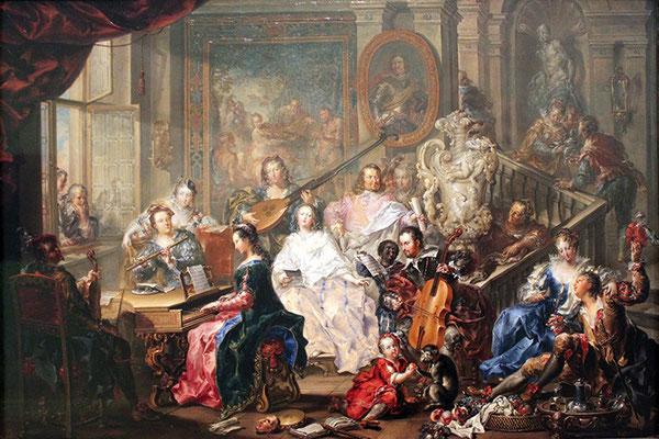 Johann Georg Platzer (1704–1761), Das Konzert, © Germanisches Nationalmuseum, Nürnberg