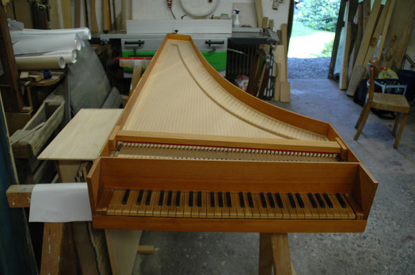 ... an Italian harpsichord by a customer for overhaul …© photo A.Heinrichs-Heger