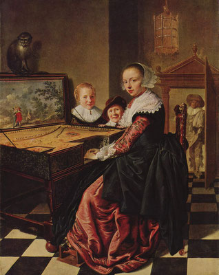 Jan Miense Molenaer painted his wife Judith Leyster at the virginal ( harpsichord ) (Rijksmuseum Amsterdam)