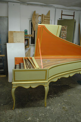 Double-manual French harpsichord after Pascal Taskin © photo A.Heinrichs-Heger