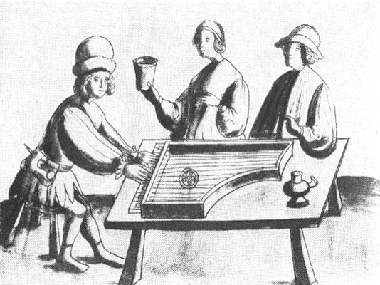 Clavecin primitif, Weimarer Wunderbuch ca. 1440