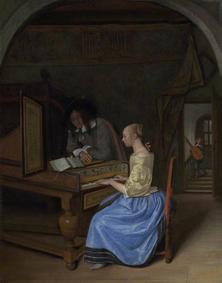 Young Lady on keyboard by Jan Steen
