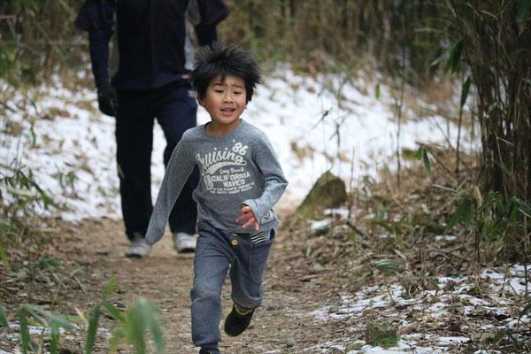 6歳の男の子も完走です。