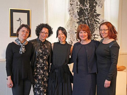 von links nach rechts: Katrin Laurenz, Larissa Fritsche, Fusayo Takeuchi, Petra Strolka, Gabriele Beck
