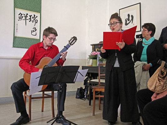 Musikalische Umrahmung: Noriko Kimura (Gesang)