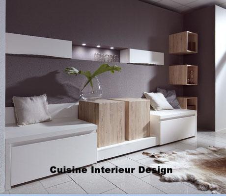 cuisine design Toulouse esprit cosy aménagement annexe de détente