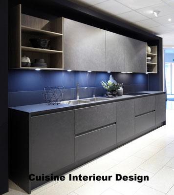 #cuisineinterieurdesign#création#toulouse#moderne#cuisine#design#porte#en#ciment#gris#foncé#tendance#2017#schroder#Kuchen