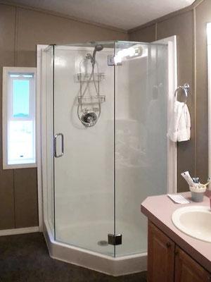Start your bathroom remodel with a new shower and new shower doors.