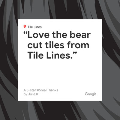 Love the bear cut tiles from Tile Lines.