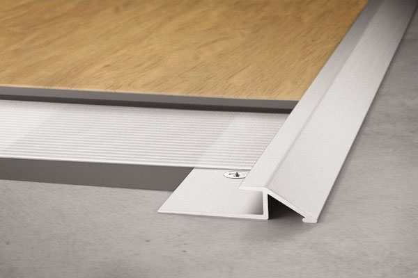 Schluter Vinpro-U is a small ramp-shape when your luxury vinyl tile is floating on a floor.