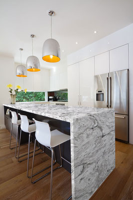 PentalQuartz White Fusion gives you the natural stone look without the natural stone maintenance